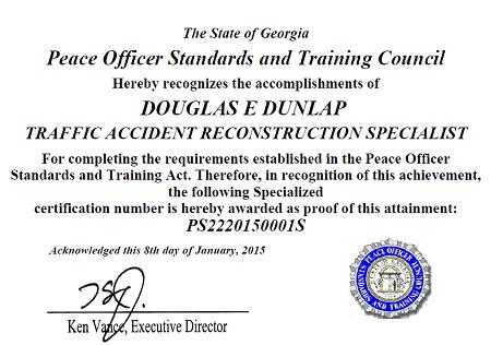 Dunlap Accident Reconstruction, LLC